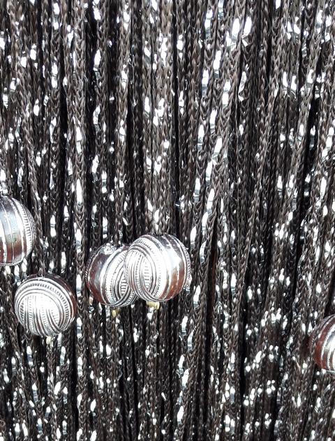 Кисея Дождь однотонный с шарами col 204