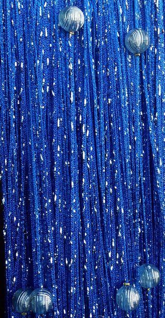Кисея Дождь однотонный с шарами col 208