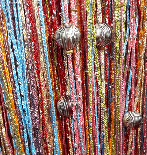 Кисея Дождь радуга с шарами col 104