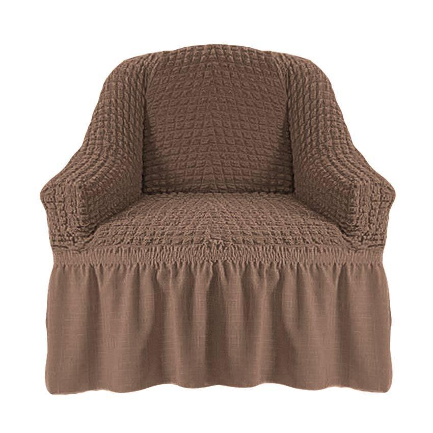 Чехол на кресло капучино