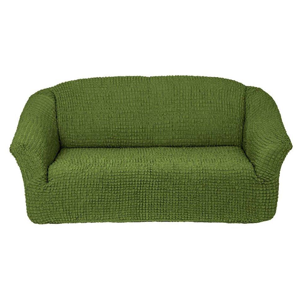 Чехол на 3-х местный диван без оборки зеленый