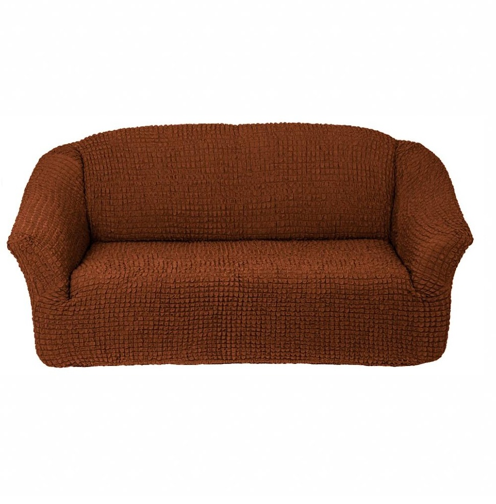 Чехол на 3-х местный диван без оборки коричневый