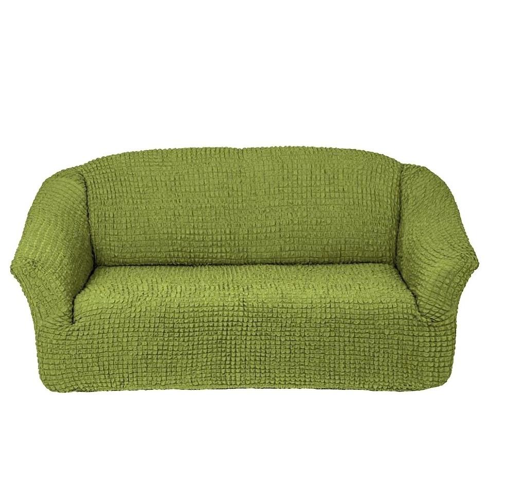 Чехол на 3-х местный диван без оборки фисташковый