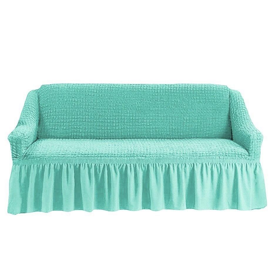 Чехол на 3-х местный диван бирюза