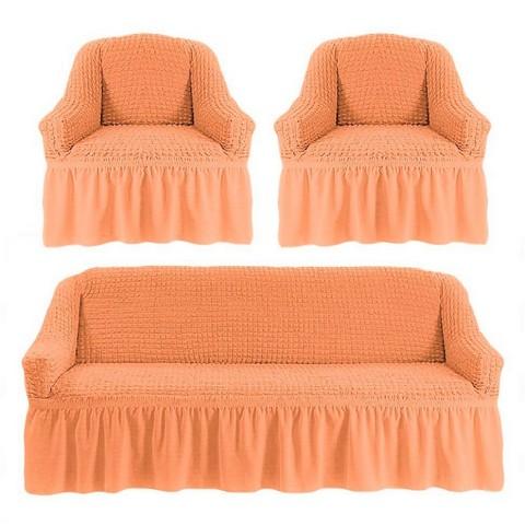 Чехол на 3-х местный диван и два кресла персиковый
